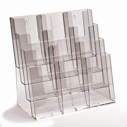 4 skyrių A4 horizontalus universalus bukletų laikiklis