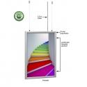 Dvipusis šviečiantis LED rėmas MR-LD25-BB-D