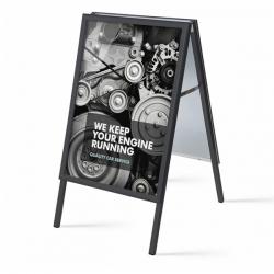 A-Dvipusis reklaminis stendas A-PC32-BL