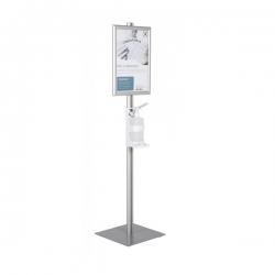 Info stovas rankų dezinfekcijai su dozatoriumi ir A3 rėmu - 1,5 m