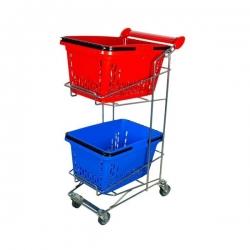 Vežimėlis prekybiniams krepšiams TR-3