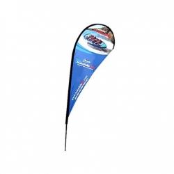 Lašo formos reklaminė vėliava su stiebu